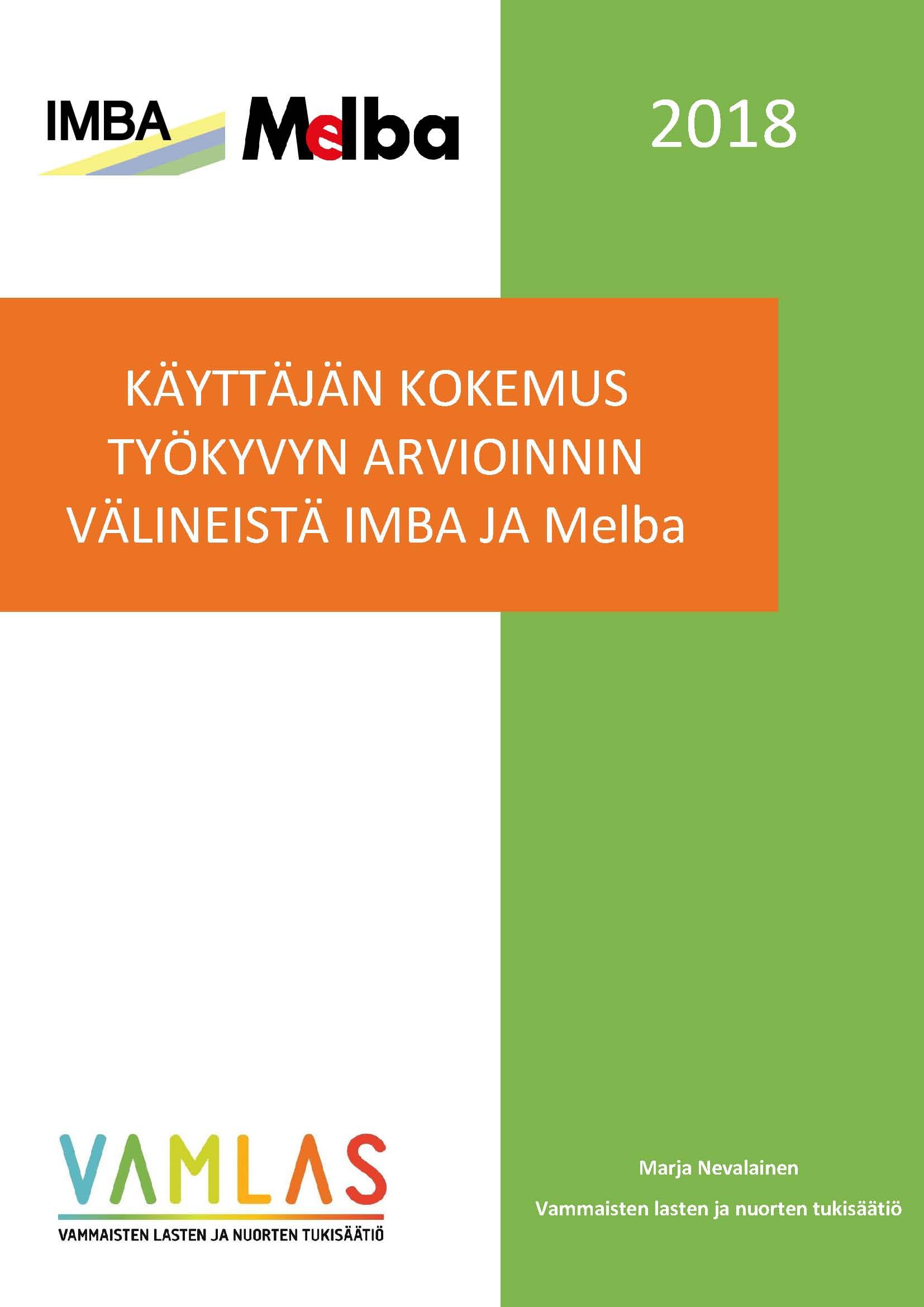 Etusivu IMBA ja Melba selvitys