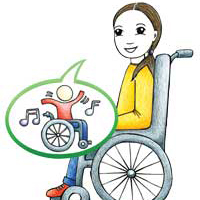 tyttölapsi pyörätuolissa