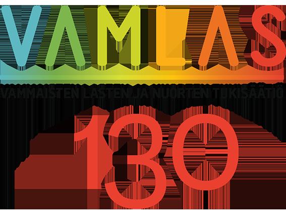Vamlasin värikäs logo valkoisella pohjalla