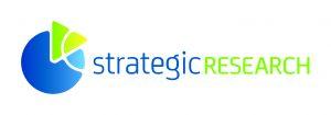 STN:n logo, jossa strategicresearch-teksti sinisellä ja vihreällä